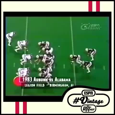 Todays Dr Pepper #Vintage Vine: Bo Jacksons incredible 1983 Iron Bowl helped Auburn earn a #1 ranking that season. - ESPNs post on Vine