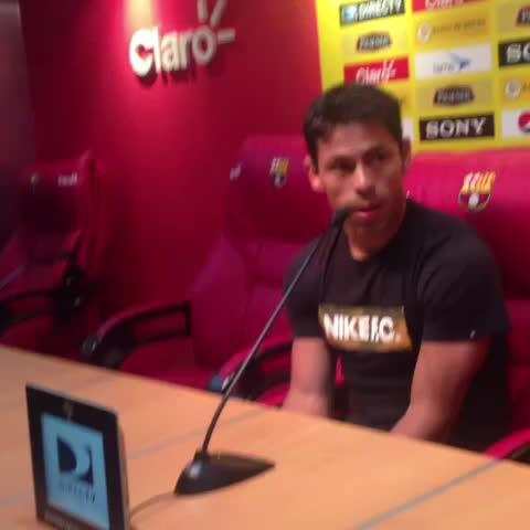 """BarcelonaSCs post on Vine - Matias Oyola en Rueda de prensa """"Necesitamos a nuestra gente el domingo """" - BarcelonaSCs post on Vine"""