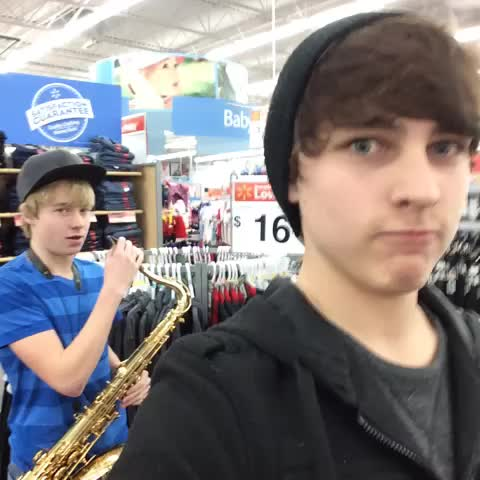 FOLLOWING FAT PEOPLE #fat #music #funny #comedy #haha #LOL #overreaction #vinefamous #Walmart #cute #crazy #publicdistubance - Sam and Colbys post on Vine
