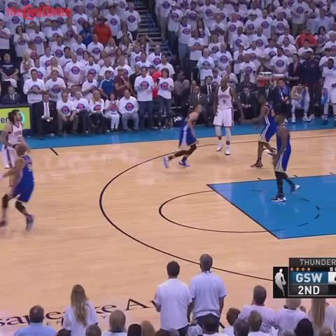 Vine by The Cauldron - Steven Adams throws a fastball to Andre Roberson