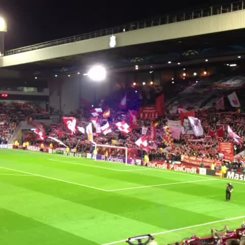 Karl Matchetts post on Vine - YNWA, Anfield. - Karl Matchetts post on Vine