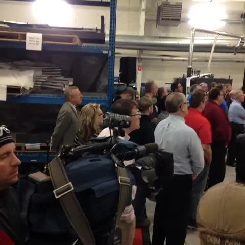 Gov. Walker is in Hobart talking about the importance of manufacturing as the final weekend of the #WIgov race begins - Andrew LaCombes post on Vine