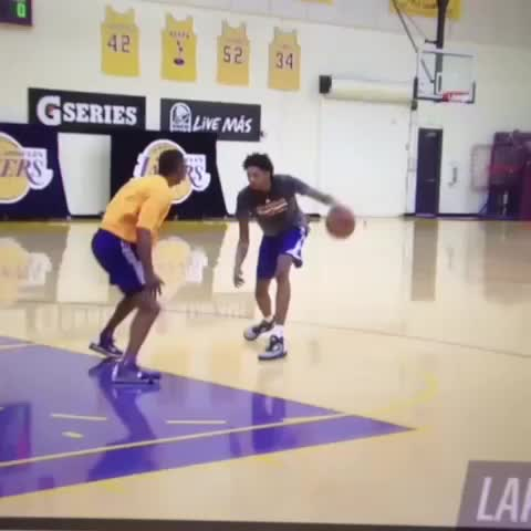 Vine by Advith - Brandon Ingram aint got no chill...dude was cooking the Lakers trainers lmao