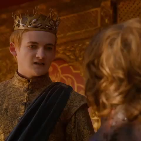 "Game Of Throness post on Vine - ""Kneel!"" A royal wedding is not an amusement. A royal wedding is history. #Joffrey #GameofThrones #PurpleWedding #TheLionAndTheRose - Game Of Throness post on Vine"