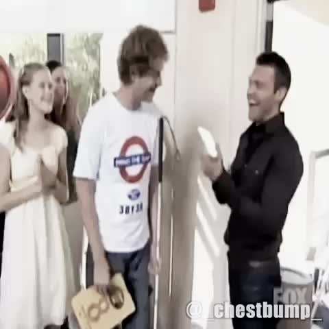 Vine by Chest-Bump - That one time when Ryan Seacrest tried to high five a blind guy on American Idol.