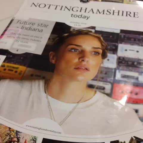 The October edition of @NottsToday - Indiana, (@IndianaTheGirl) #nottingham #music - Simon Wilsons post on Vine