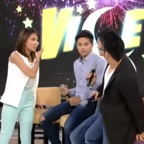 Maribel Paduas post on Vine - Vine by Maribel Padua - Hes so cute when he get jealous. #KathNiel