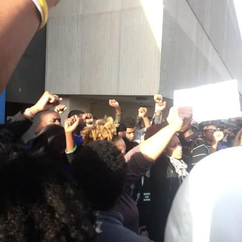 AUC March through Atlanta #silence #ferguson #mikebrown - YACHT PRINCEs post on Vine