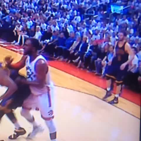 Vine by RealGM - Kevin Love stepped on foot of referee on sideline before falling in pain with his left ankle.