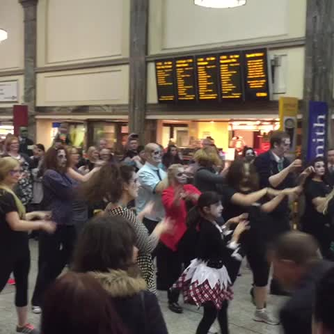 I Loves The Diffs post on Vine - It all kicked off at Cardiff Central earlier. @huggzy #thriller #zombieguards - I Loves The Diffs post on Vine