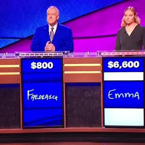 Emma is now a Jeopardy 10! #WhatIsDick - KFC BarstoolSportss post on Vine