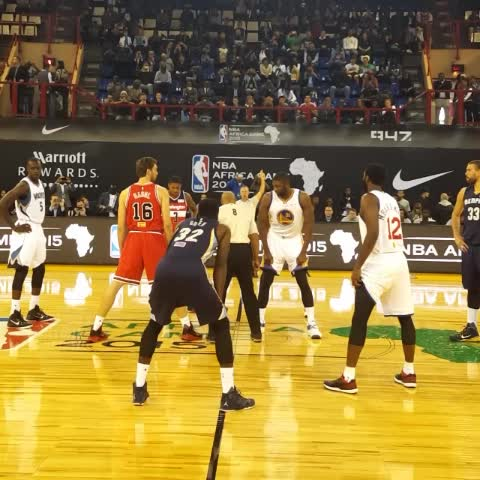 Vine by NBA - The first ever #NBAAfricaGame is underway on ESPN!