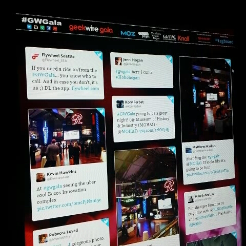 Party getting started at @geekwire #gwgala! Tagboard - Joshua Deckers post on Vine
