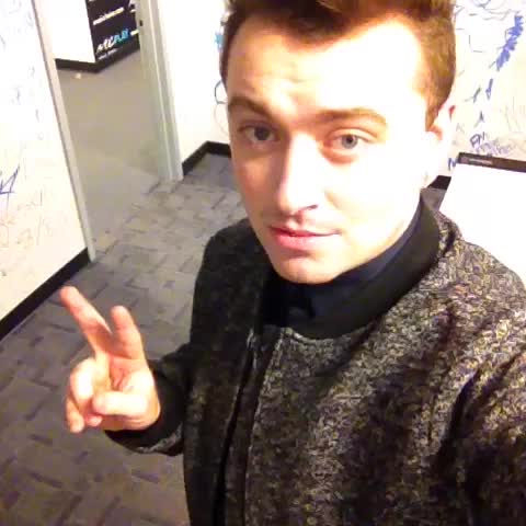 Sam Smith Tries a Selfie Runs