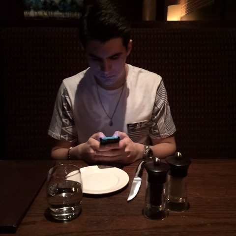 Christian DelGrossos post on Vine - When you see your food coming to the table😍 #remake Matthew Espinosa - Christian DelGrossos post on Vine