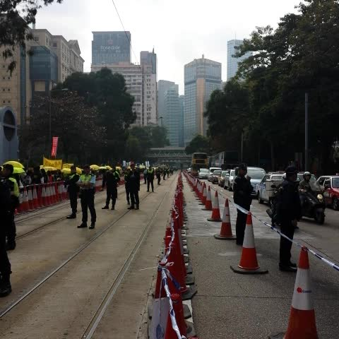 Vine by Tom Grundy - 52 days after the main &#OccupyHK site was cleared, democracy protests reconvene for rally