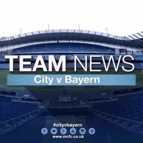 THE BOYS IN BLUE: Your #mcfc line-up in Vine form and set to our traditional song! #cityvbayern - Manchester City FCs post on Vine
