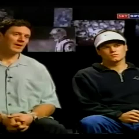 Vine by @OnlyInBOS - #TomBrady & #DrewBledsoe sit down together for an interview before #SuperBowl