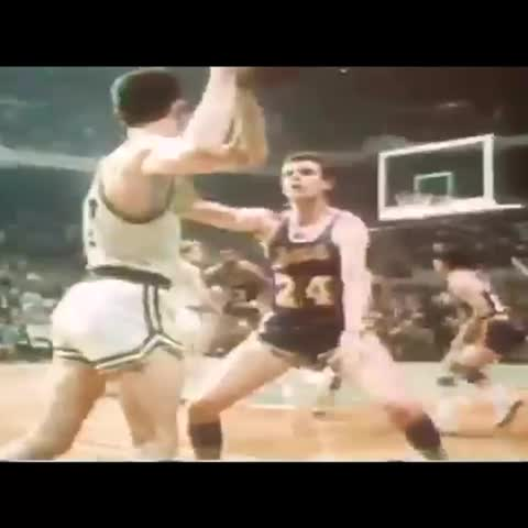 """Watch Pro Hoops History's Vine """"The always clutch Sam Jones with the stupidly lucky shot to win ..."""