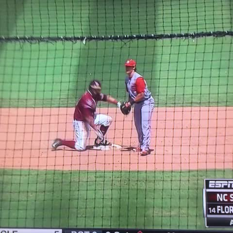 Vine by Danny Wukich - You might be real, but youll never be Florida State shotgunning a beer after a double real⚾️😂