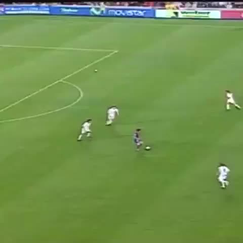 FC Barcelonas post on Vine - May 1, 2005. Leo #Messi scores his first official goal. #Messi10 - FC Barcelonas post on Vine
