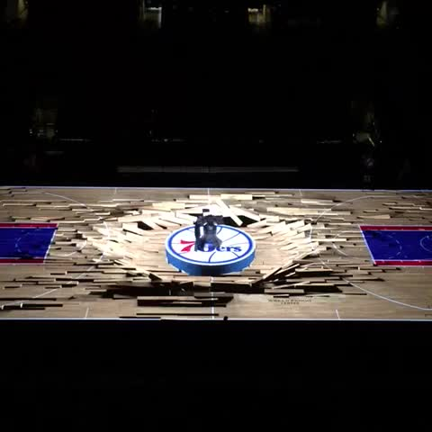 The Nba S 3d Court Projection Systems Are Awesome