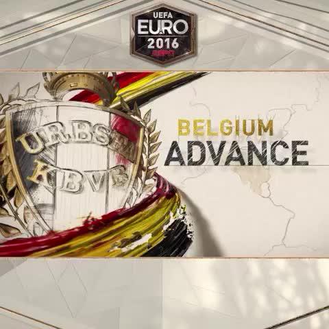 Vine by ESPN FC - Belgium defeat Hungary to reach the #EURO2016 quarterfinals!