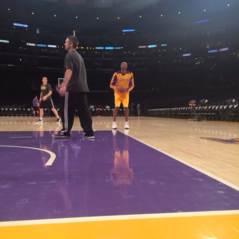Pregame Mamba work. - Lakerss post on Vine