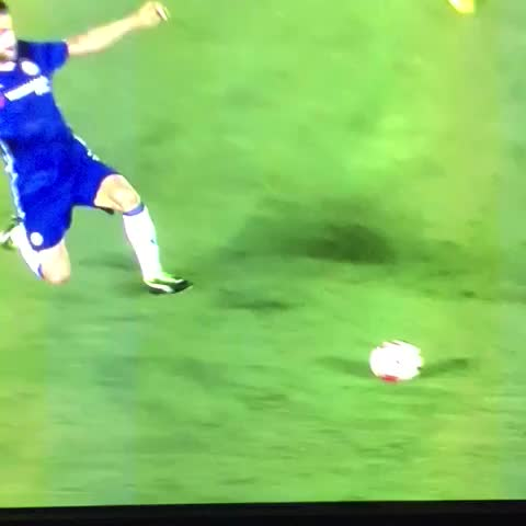 Vine by Anfield HQ - Straight red for Fabregas for a tackle on Klavan. #lfc