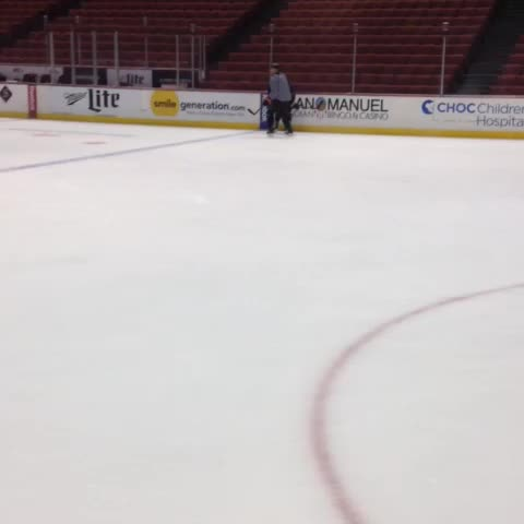 Anaheim Duckss post on Vine - Rene Bourque is wearing number 14 and on the ice for practice today! - Anaheim Duckss post on Vine