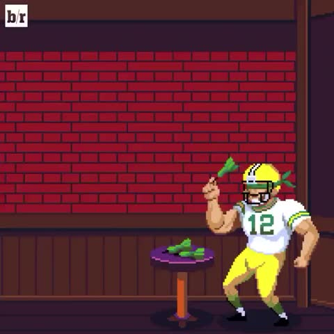 Vine by Bleacher Report - Rodgers can't miss. 4 TDs to lead the Packers to a W! 🎯