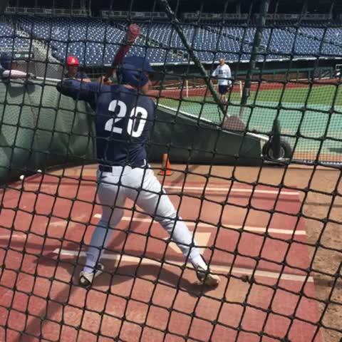 Vine by Arizona Baseball - Rivas, Ramer and Aguilar get some hacks in at TD Ameritrade. #StayHot
