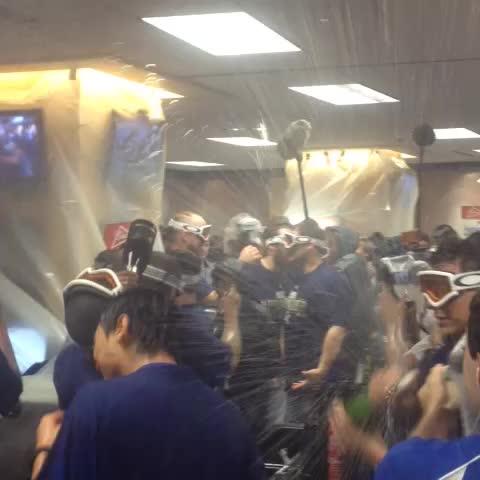 Kansas City Royalss post on Vine - Pop that bubbly boys! #TakeTheCrown - Kansas City Royalss post on Vine