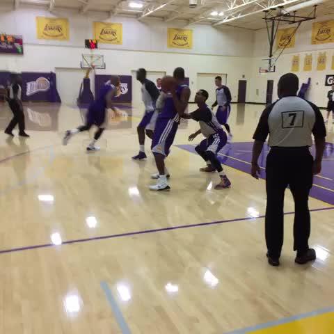 Kobe on the right block vs. Clarkson. Bang. Trot back down. - Lakerss post on Vine