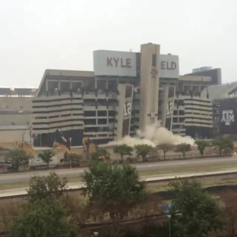 On the 5th day of #chanukah #kylefield came tumbling down. #tamu #implosion #12thman - Vine by Rabbi Yossi Lazaroff - On the 5th day of #chanukah #kylefield came tumbling down. #tamu #implosion #12thman