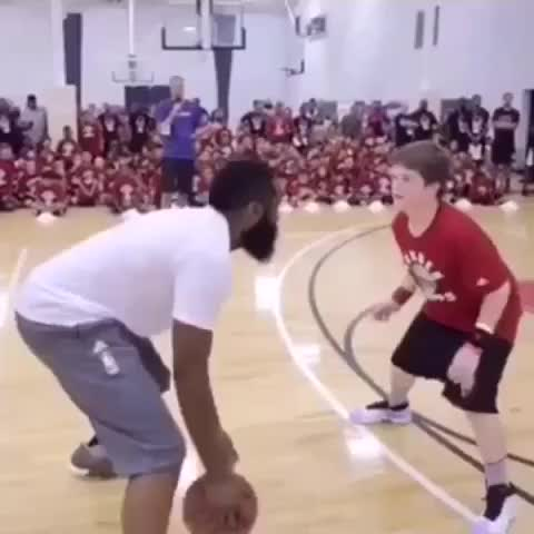 Vine by Legion Hoops - James Harden.....messing with kids at his camp. Savage. ???? (via Mike Goldfarb)