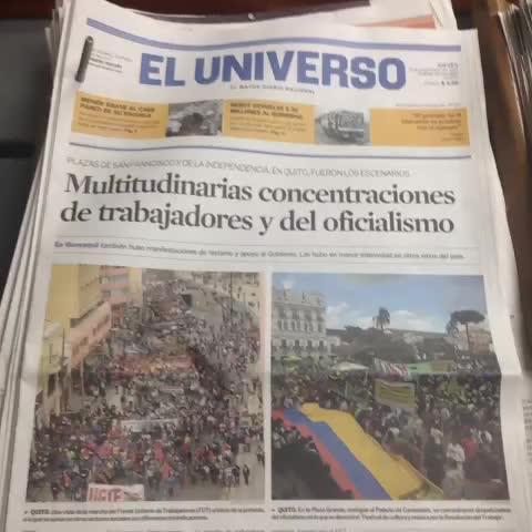 Fernando Astudillos post on Vine - Tres periódicos reflejan las dos caras de un hecho. Para el diario estatal solo prima una. - Fernando Astudillos post on Vine