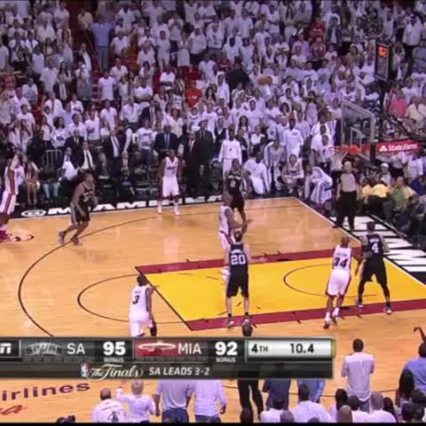 Vine by The NBA on ESPN - Ray Allens series-saving 3-ptr in Game 6 of the 2013 Finals is No. 3 in #NBArank Best Playoff Vines.