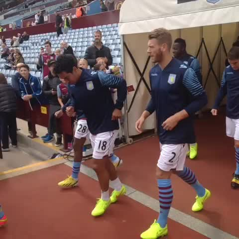 Players emerge from the tunnel pre-match. #AVFC #AVFCLIVE #NUFC - AVFCOfficials post on Vine
