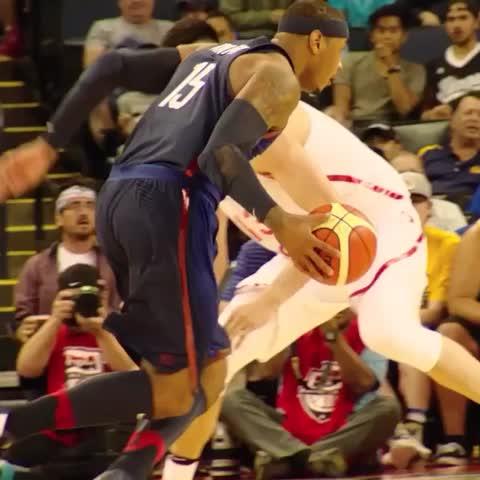 Vine by NBA - Melo shakes & bakes! #USABMNT #PhantomCam 🇺🇸🏀🇨🇳