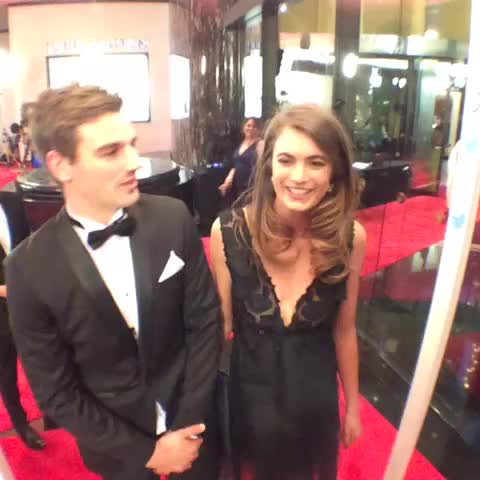 AFL Brownlows post on Vine - Dom Tyson and his partner having a great time on the #SwisseRedCarpet ahead of the #Brownlow Medal. - AFL Brownlows post on Vine