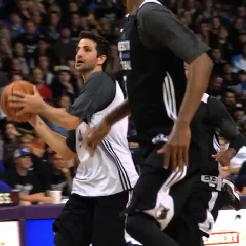 NBAs post on Vine - At @MNTImberwolves #DunksAfterDark on @NBATV, @rickyrubio9 finds @22wiggins for the SLAM! - NBAs post on Vine