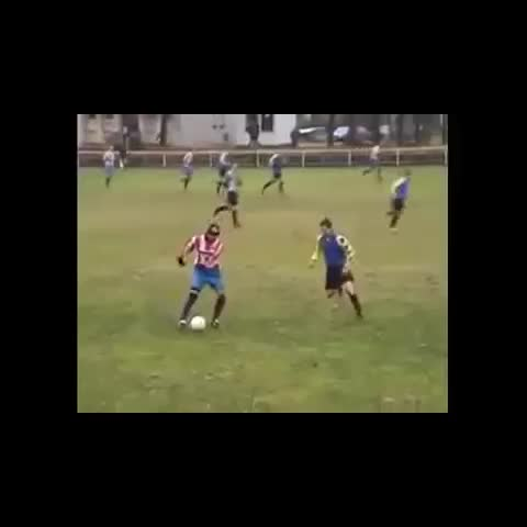 Vine by @FootbaliFights - Proper football sunday league tackle 😂
