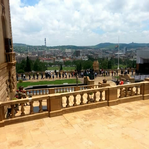 Continuous line of police and officials streaming through to pay respects to #Madiba at the Union Buildings. - Thrishnis post on Vine