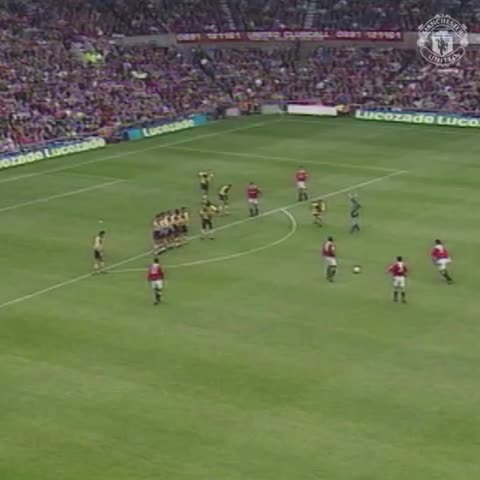 Vine by Manchester United - A classic strike from the birthday boy, Eric Cantona! #mufc