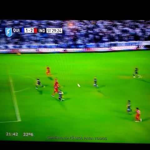 Vine by ElCrackDeportivo - Gol de #Albertengo que pone #Quilmes 1-2 #Independiente