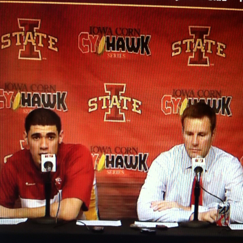 Keaton Anfinsons post on Vine - Hoiberg and Niangs interview. #comedy #iowastate - Keaton Anfinsons post on Vine
