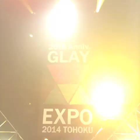 HISASHIs post on Vine - GLAY LIVE TOUR 2014 TOHOKU 最終日♪ - HISASHIs post on Vine