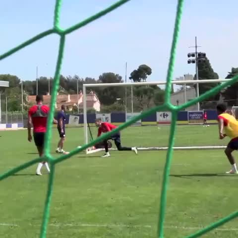 Vine by England - Under-21s and Leicester City defender Ben Chilwell picks out the top corner in training. #Toulon2016
