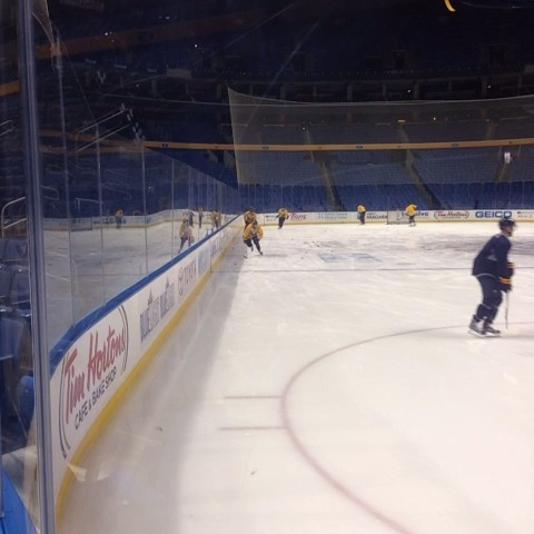 Mike Harringtons post on Vine - Heres the proof: Cory Conacher joins AM skate, will become first Canisius player to play for #Sabres tonight. # Griffs - Mike Harringtons post on Vine